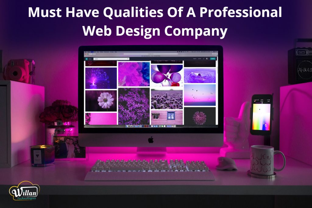 Web design company qualities